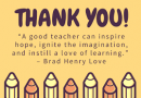 """Student """"Shout Outs"""" to Teachers for Teacher Appreciation Week"""